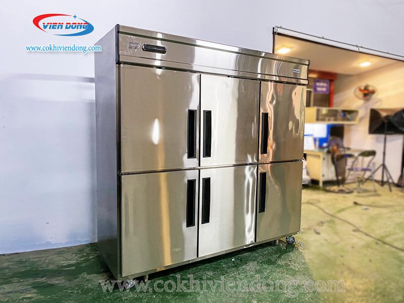 Tủ lạnh công nghiệp 6 cánh inox