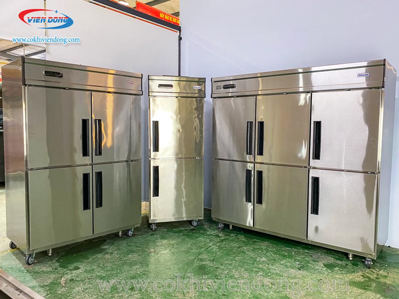 các loại tủ lạnh công nghiệp 2,4,6 cánh inox